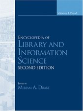 Cover:Encyclopedia of library and information science