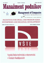 Incentives for Small and Medium sized Enterprises and Regional Development : international conference : March 27th, 2015 in České Budějovice, Czech Republic (odkaz v elektronickém katalogu)