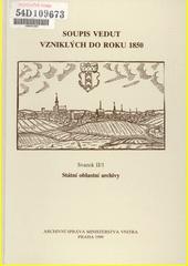 Soupis vedut vzniklých do roku 1850. Svazek II (odkaz v elektronickém katalogu)