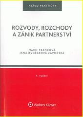 Rozvody, rozchody a zánik partnerství  (odkaz v elektronickém katalogu)