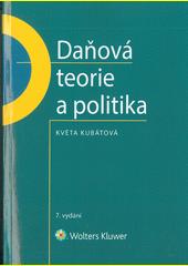 Daňová teorie a politika  (odkaz v elektronickém katalogu)