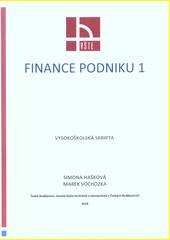 Finance podniku 1 : (vysokoškolská skripta)  (odkaz v elektronickém katalogu)