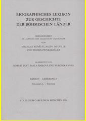 Biographisches Lexikon zur Geschichte der Böhmischen Länder. Band IV. Lieferung 7, Stránský, J.-Štroner  (odkaz v elektronickém katalogu)