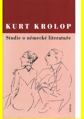 Studie o německé literatuře  (odkaz v elektronickém katalogu)