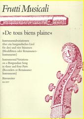 De tous bien plaine (odkaz v elektronickém katalogu)