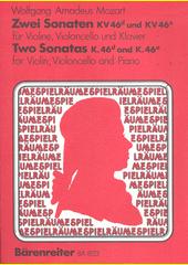 Mozart Dvě sonáty pro housle (odkaz v elektronickém katalogu)