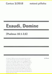 Exaudi, Domine : (Psalmus 16:1-3,6)  (odkaz v elektronickém katalogu)