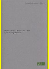 Autor, text, dílo a jiné textologické studie  (odkaz v elektronickém katalogu)