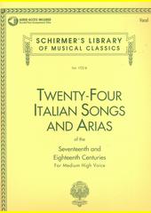 Twenty-four Italian songs and arias of the seventeenth and eighteenth centuries : for medium high voice (odkaz v elektronickém katalogu)