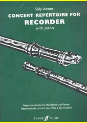 Concert repertoire for recorder (odkaz v elektronickém katalogu)