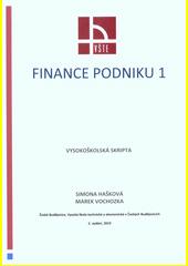Finance podniku 1 : vysokoškolská skripta  (odkaz v elektronickém katalogu)