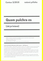 Quam pulchra es (odkaz v elektronickém katalogu)