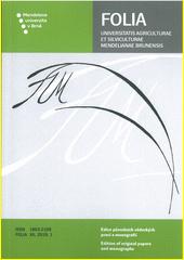 Pedogeochemická charakteristika lokalit Bošovice, Hrušky a Zástřizly = Pedogeochemical characterization of localities Bošovice, Hrušky a Zástřizly : původní vědecká práce  (odkaz v elektronickém katalogu)