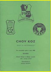 Chov koz : rady a informace  (odkaz v elektronickém katalogu)