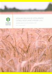 Výzkum obilnin ve výzkumném ústavu rostlinné výroby, v. v. i.