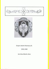 Soupis okultní literatury. III., 1926-1940  (odkaz v elektronickém katalogu)