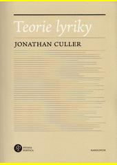 Teorie lyriky  (odkaz v elektronickém katalogu)