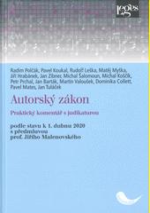 Autorský zákon : praktický komentář s judikaturou : podle stavu k 1. dubnu 2020  (odkaz v elektronickém katalogu)
