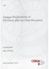 Granger predictability of oil prices after the Great Recession  (odkaz v elektronickém katalogu)
