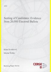 Sorting of candidates : evidence from 20,000 electoral ballots  (odkaz v elektronickém katalogu)