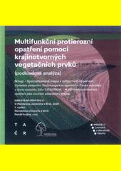 Multifunkční protierozní opatření pomocí karajinotvorných vegetačních prvků