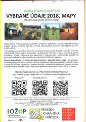 Praha - životní prostředí : vybrané údaje 2018, mapy (odkaz v elektronickém katalogu)