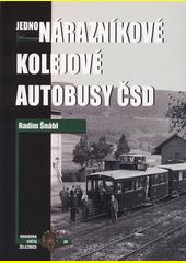 Jednonárazníkové kolejové autobusy ČSD  (odkaz v elektronickém katalogu)