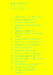 Moderní typografie : kriticko-historická esej  (odkaz v elektronickém katalogu)