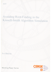 Avoiding root-finding in the Krusell-Smith algorithm simulation  (odkaz v elektronickém katalogu)