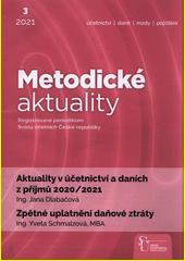 Metodické aktuality : aktuality v účetnictví a daních z příjmú 2020 (odkaz v elektronickém katalogu)
