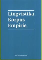 Lingvistika - korpus - empirie (odkaz v elektronickém katalogu)