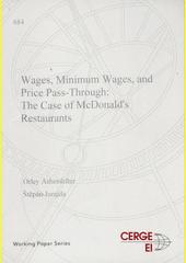 Wages, minimum wages, and price pass-through: the case of McDonald's restaurants  (odkaz v elektronickém katalogu)