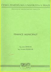 Finance municipalit /Jana Žehrová, Daniela Pfeiferová (odkaz v elektronickém katalogu)